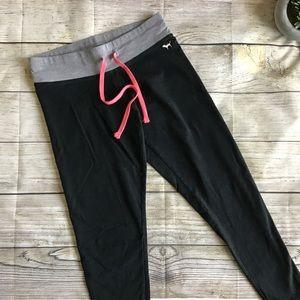 PINK Victoria's Secrets Black With Grey Leggings